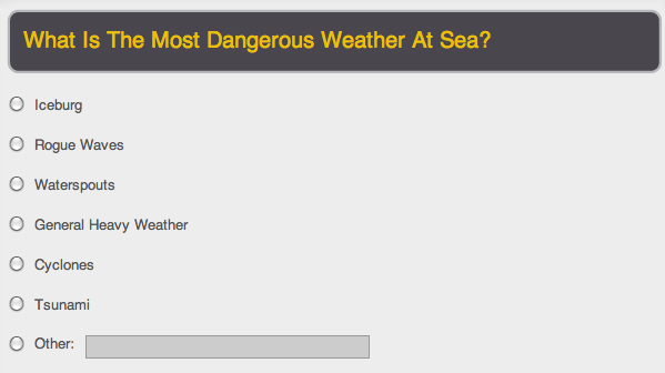 Heavy Weather Poll