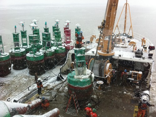 Winter Marine Bouy Operations