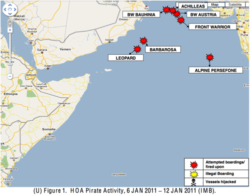 Horn of Africa Piracy Activity 6 - 12 Jan 2011