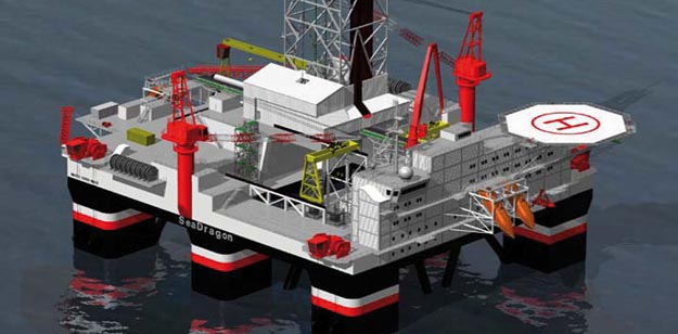 Seadragon Seadrill Semi-Submersible Oil Rig
