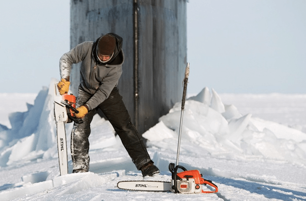 chainsaw-submarines-alaska-ice