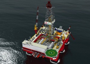 The newbuild ultra-deepwater semi-submerisbe, West Leo.  © Seadrill. All rights reserved.