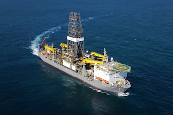 Pictured: Deepwater Champion, the first drillship Hyundai Heavy delivered on November 16, 2010