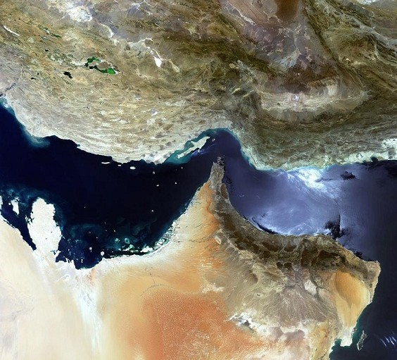Strait of Hormuz satellite image