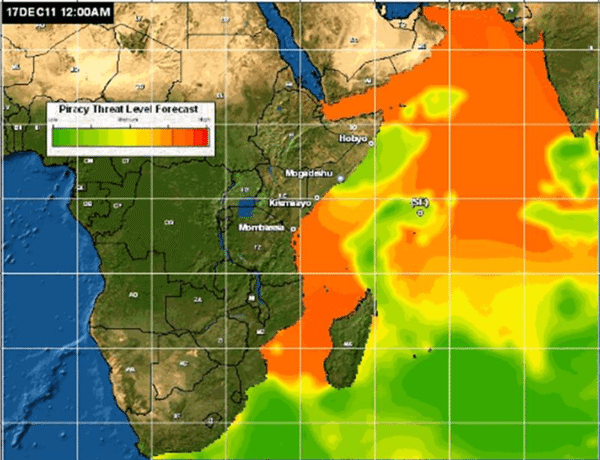 Likelihood of Pirate Activity indian ocean