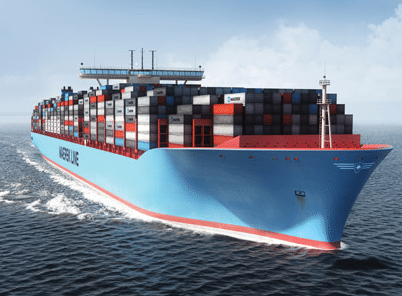 An illustration of Maersk&#039;s Triple-E 18,000teu containership. Photo: Maersk