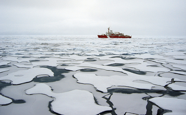 arctic ocean uscg healy ice icebreaker