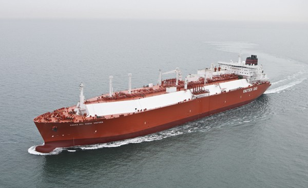 LNG carrier Ribera del Duero Knutsen ice-classed