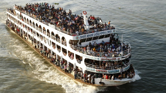 A file photo of of the MV Shariatpur 1 passenger ferry