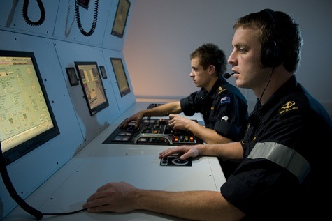 Offshore Patrol Vessel (OPV) engineroom simulator developed by Transas for the Royal New Zealand Navy engineering school .