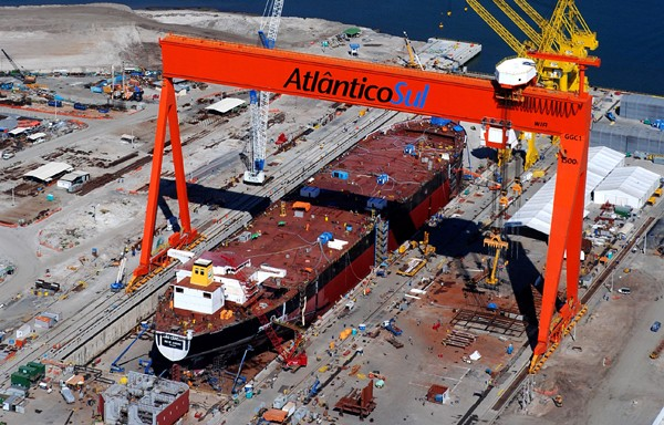 Estaleiro AtlanticoSul shipyard brazilian shipbuilding