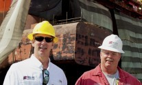Helix ESG CEO Owen Kratz and Rig Superintendent Paul Baker at Keppel AMFELS Shipyard while the Q4000 is in drydock, (c) Robert Almeida/gCaptain