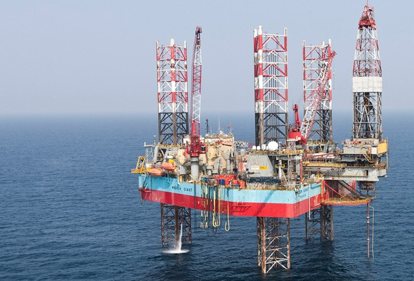 maersk giant drilling rig jackup