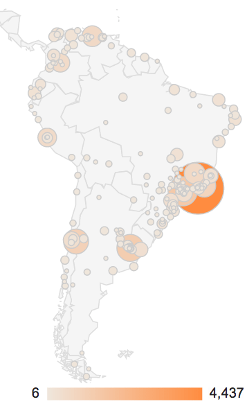 south america gcaptain visitors