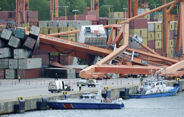 stena spirit gydnia bct crane accident