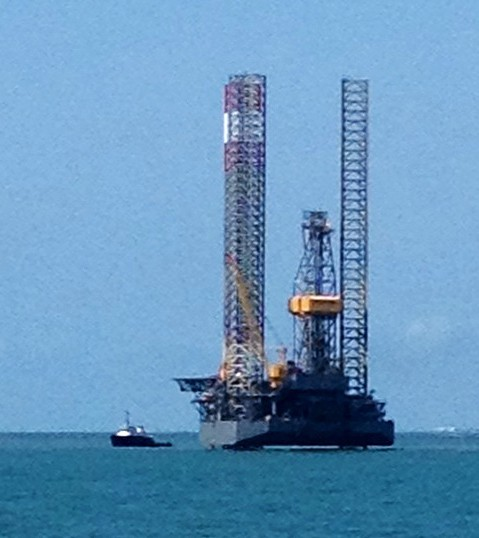 jackup rig port aransas collision