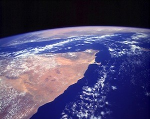 The Horn of Africa from space. Photo: NASA