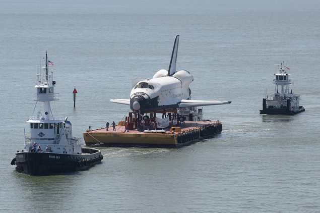 shuttle enterprise houston ship channel barge tugboats tugs