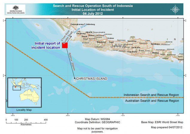 amsa australian maritime safety incident indonesia christmas island
