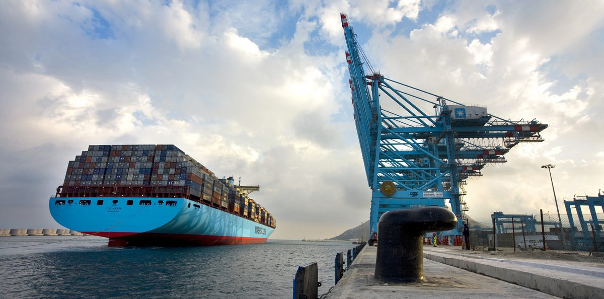 Elly Maersk container ship