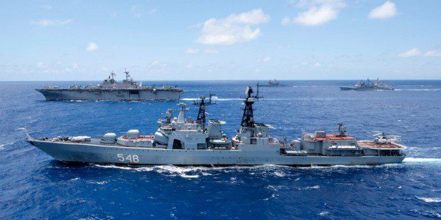 rimpac udaloy russian destroyer formation