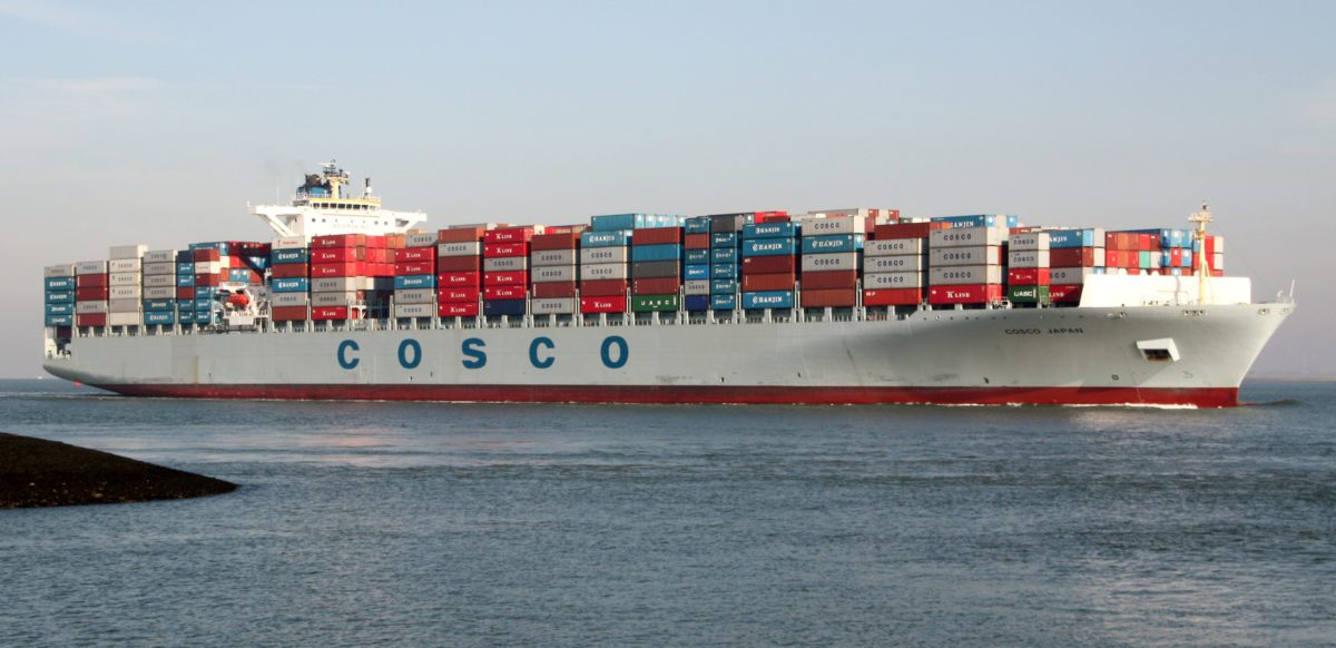 Cosco japan containership