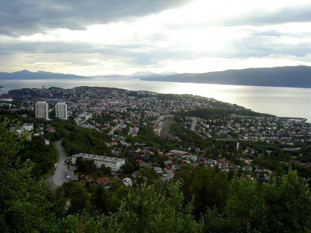 The city of Narvik lies on the shores of the Ofotfjorden.