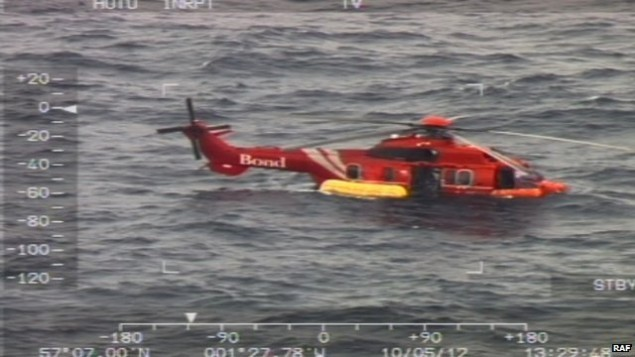 bond helicopters super puma ditching north sea