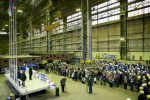 vyborg icebreaker keel laying ceremony