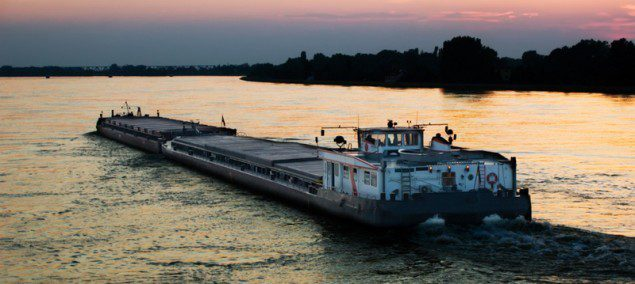 barge danube river