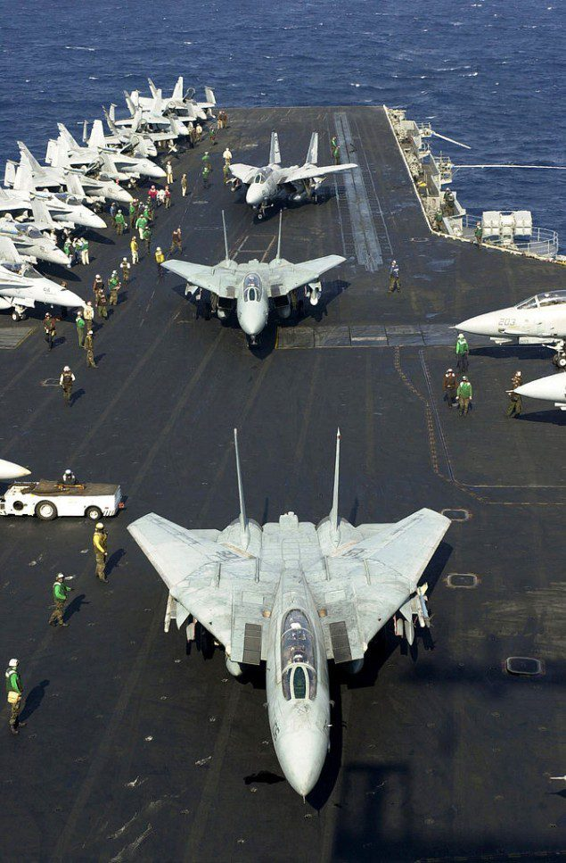 uss enterprise f-14 tomcat