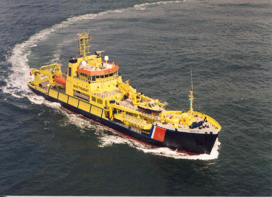 MV Arca, an oil spill response vessel of the Dutch government