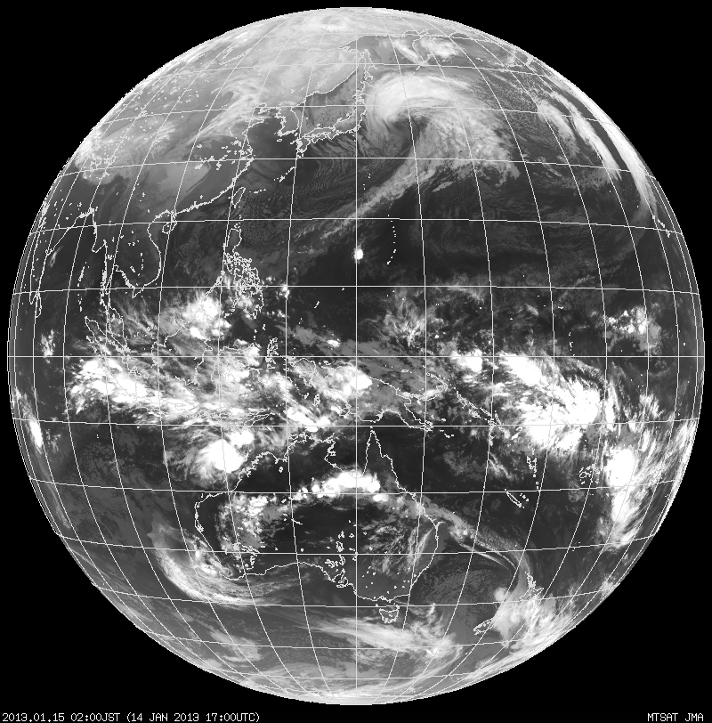 earth weather satellite image infrared