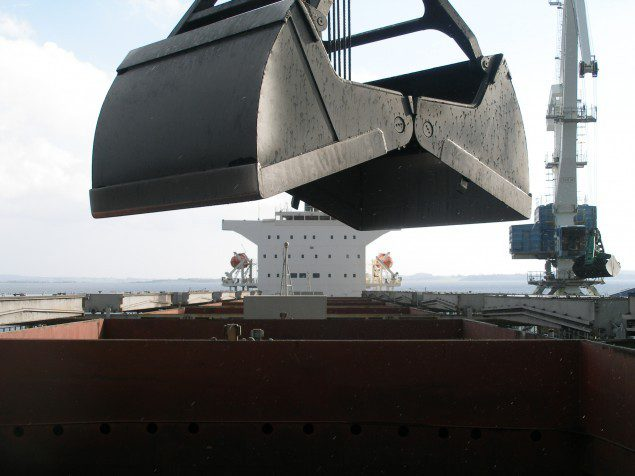norden panamax dry cargo deck grab coal