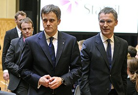 statoil CEO Helge Lund the Norwegian Prime Minister Jens Stoltenberg