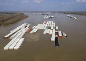 Undated file photo of barges along the Mississippi River. Image: Shutterstock