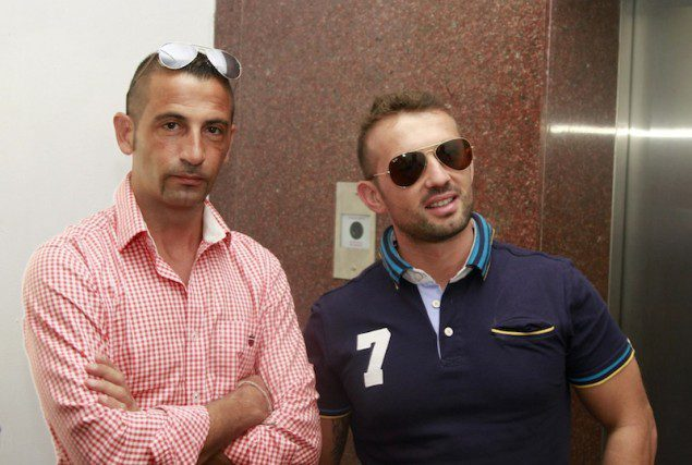 The two Italian marines, Massimiliano Latorre (L) and Salvatore Girone, shown in Kochi, India on Dec. 18, 2012 awaiting their return to Italy for the holidays. REUTERS/Sivaram V