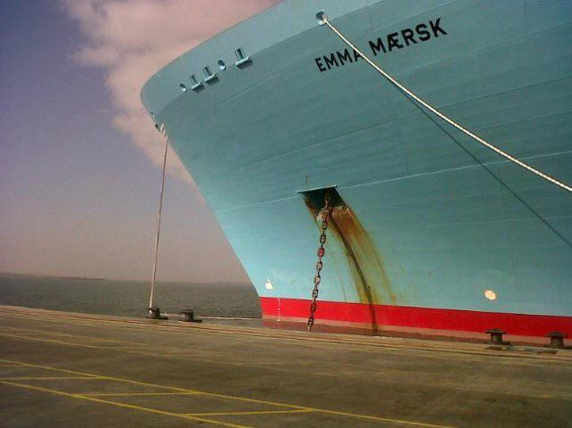 The Emma Maersk at Port Said, Egypt