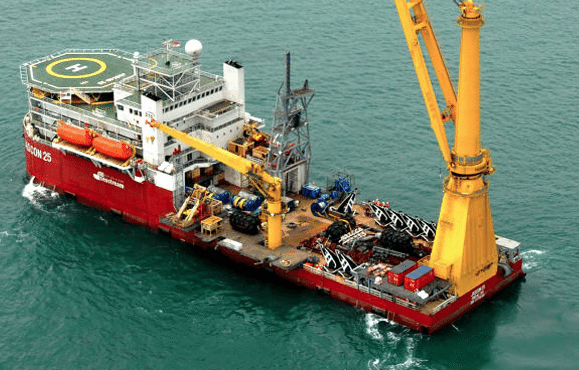 Sea Trucks Group's pipelay construction vessel, Jascon 25.