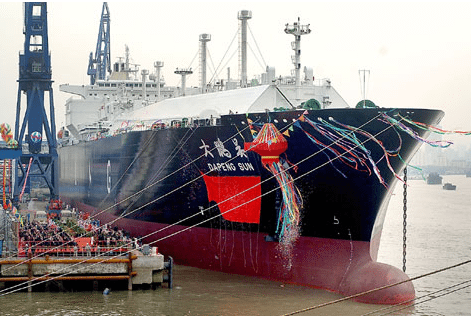 Dapeng Sun, China&#039;s first self-built liquefied natural gas carrier, was delivered in 2008 and hailed as a milestone.
