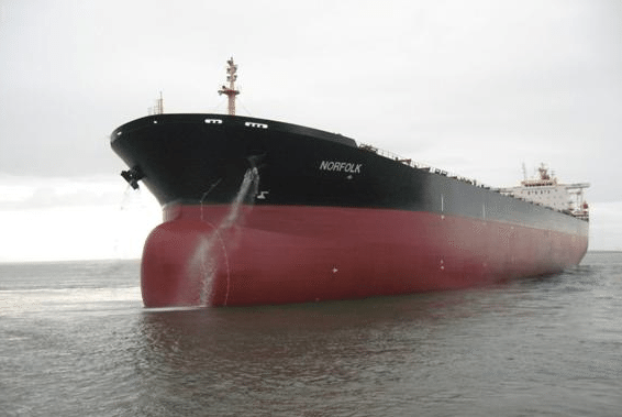 Diana Shipping&#039;s M/V Norfolk, a 2002-built capesize bulk carrier. Photo: Diana Shipping