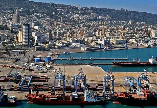 Port of Haifa file photo