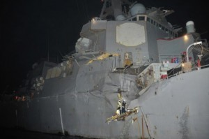 USS Porter following the collision.