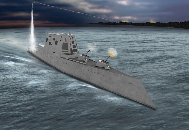 A conceptual image of the Zumwalt class.