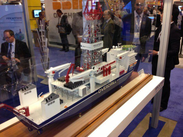 A model of the OVERDRILL design on display at OTC in Houston. Photo: gCaptain