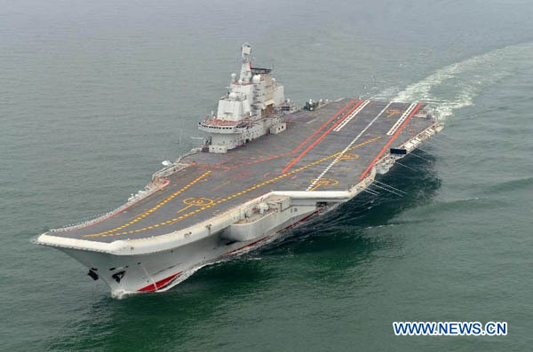 China's Liaoning aircraft carrier.